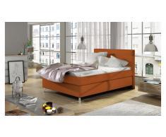 JUSTyou Cosy Letto Arancione Pelle sintetica 120x200