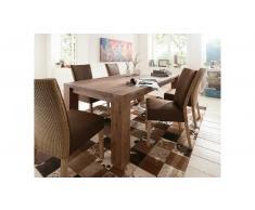 JUSTyou Mark Aurel Set tavolo con sedie Acacia Marrone