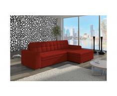 JUSTyou Conforti Divano angolare 165x270x80 cm Rosso