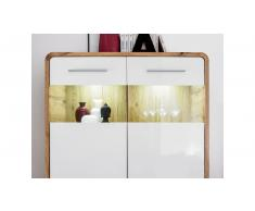 JUSTyou Peene Mobile per soggiorno Rovere Bianco