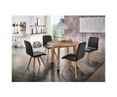 JUSTyou Olafio Set tavolo con sedie Quercia Nero