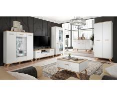 JUSTyou Neckar Mobile per soggiorno Rovere Bianco