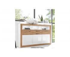 JUSTyou Ginevra Credenza Bianco | Quercia