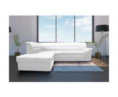 JUSTyou Elanno Divano angolare 83x250x208 cm Bianco