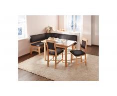 JUSTyou Werfen Set tavolo con sedie Faggio Marrone