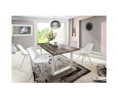 JUSTyou Perryman-V Set tavolo con sedie Acacia Bianco