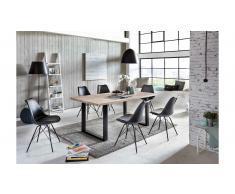 JUSTyou Omel Set tavolo con sedie Quercia Nero