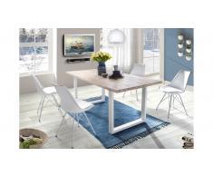 JUSTyou Omel Set tavolo con sedie Quercia Bianco