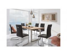 JUSTyou Omel Set tavolo con sedie Quercia Nero Acciaio
