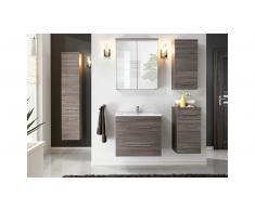 JUSTyou Manosque Set mobili da bagno Marrone Acciaio