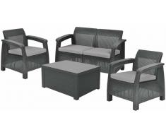 JUSTyou Corfu Set Box Rattan-Optik Antracite Grigio