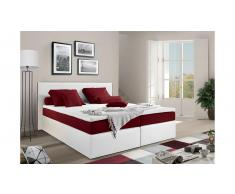 JUSTyou Frankfort Letto Vi-Spring 160x200 Bianco Rosso
