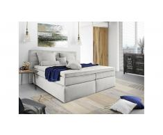 JUSTyou Lansing Letto Vi-Spring 140x200 cm Argento