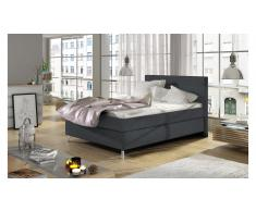 JUSTyou Cosy Letto Vi-Spring Antracite Velours 120x200