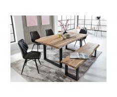 JUSTyou Ritas Set tavolo con sedie Quercia Nero