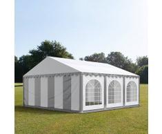 tendapro.it Tendone 6x6m PVC bianco-grigio Gazebo per Feste e Giardino