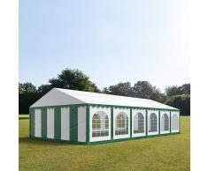 tendapro.it Tendone 6x12m PVC bianco-verde Gazebo per Feste e Giardino