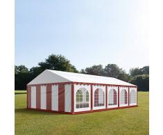 tendapro.it Tendone 6x10m PVC bianco-rosso Gazebo per Feste e Giardino