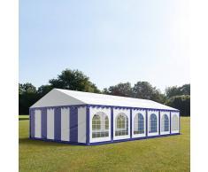 tendapro.it Tendone 6x12m PVC bianco-blu Gazebo per Feste e Giardino