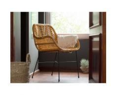 Set di 2 sedie da giardino in rattan giallo CANORA