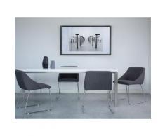 Sedia da pranzo in colore grigio scuro ARCATA