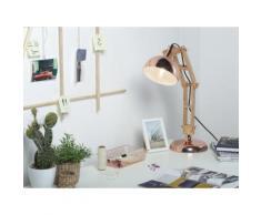 Lampada da tavolo in legno e metallo rame SALADO