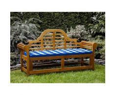 Panchina in legno 180cm con cuscino blu bianco zigzag JAVA marlboro