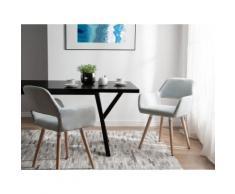 Set di 2 sedie da pranzo in tessuto grigio CHICAGO