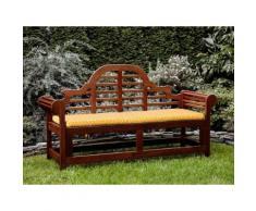 Panchina in legno 180cm con cuscino geometria gialla TOSCANA marlboro