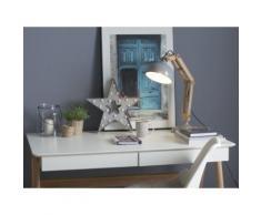 Lampada da tavolo in legno e metallo grigio SALADO