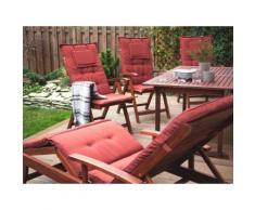 Cuscino da esterno - Per le chaise-longue - Color terracotta