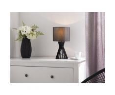 Lampada da tavolo in legno color nero CARRION