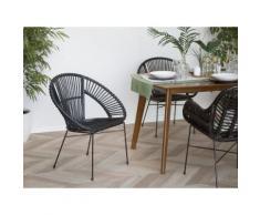 Set di 2 sedie da giardino in rattan nero SARITA