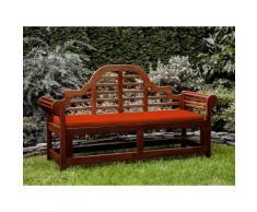 Panchina in legno 180cm con cuscino terracotta chiaro TOSCANA marlboro
