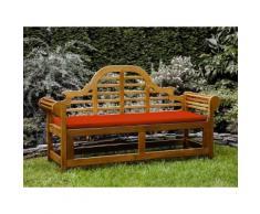 Panchina in legno 180cm con cuscino terracotta chiaro JAVA marlboro