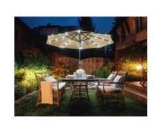 Ombrellone 266cm grigio beige con illuminazione led RAPALLO