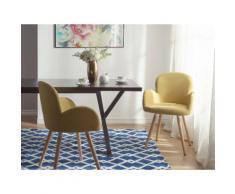 Set di 2 sedie da pranzo in colore ocra giallo BROOKVILLE