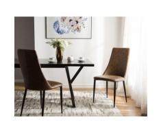 Sedia per sala da pranzo marrone - CLAYTON