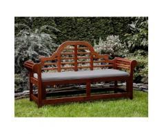 Panchina in legno 180cm con cuscino grigio beige TOSCANA marlboro