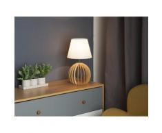 Lampada da tavolo in legno bianco SAMO