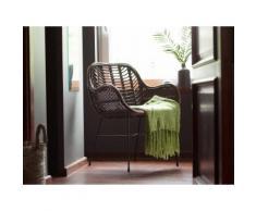 Set di 2 sedie da giardino in rattan marrone CANORA