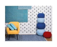 Tappeto moderno in cotone azzurro realizzato a mano - 80x150cm - AKSARAY