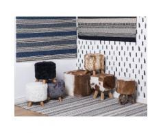 Tappeto rettangolare in lana - blu e grigio - Tappeto moderno di design - 140x200cm - PATNOS