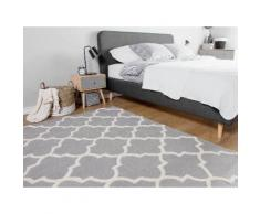 Tappeto rettangolare grigio - Tappeto moderno di design - 160x230cm - SILVAN