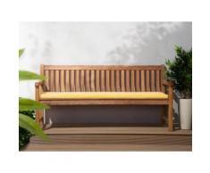 Panchina in legno 180cm con cuscino geometria gialla JAVA