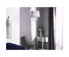 Lampadario in cristallo grigio chiaro EVANS