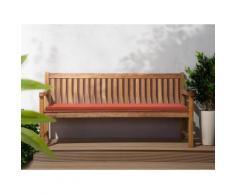 Panchina in legno 180cm con cuscino terracotta JAVA