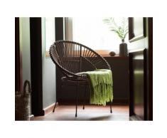 Set di 2 sedie da giardino in rattan marrone SARITA