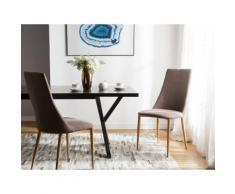 Sedia da pranzo in colore marrone chiaro CLAYTON
