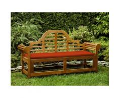 Cuscino da esterno - Per panchina da giardino Marlboro 180cm - 152x52x5cm - Color terracotta